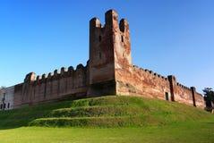 castelfranco średniowieczne Veneto ściany Zdjęcia Royalty Free