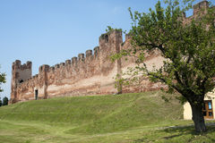 Castelfranco Veneto, Ancient walls Stock Photo