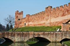 Castelfranco Veneto en middeleeuws vestingwerk Royalty-vrije Stock Afbeeldingen