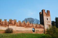 Castelfranco Veneto en zijn ruïnes Stock Afbeelding