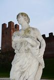 Castelfranco Veneto and its statues Royalty Free Stock Photos