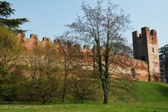 Castelfranco Veneto and the medieval tower Royalty Free Stock Photography