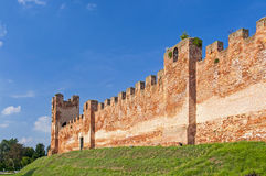 Castelfranco Veneto, Treviso, Italy. City walls of Castelfranco Veneto, Treviso, Italy Stock Photo