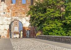 Castelfranco Veneto, Treviso, Italy. City walls and gate of Castelfranco Veneto, Treviso, Italy Royalty Free Stock Photography