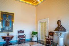 Castelgandolfo, het Pauselijke paleis royalty-vrije stock afbeelding
