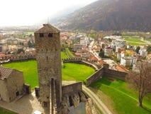 Castelgrande贝林佐纳,提契诺州,瑞士 免版税图库摄影