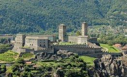 Castelgrande - Bellinzona. Castelgrande is a medieval castle dating from 13th century on a rocky hilltop - Bellinzona, Switzerland Royalty Free Stock Photo