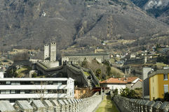 Castelgrande Castle. Located in Bellinzona (Swiss), one of the three castles inserted UNESCO list Royalty Free Stock Photography
