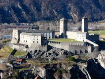 Castelgrande castle in Bellinz Royalty Free Stock Image
