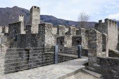 Castelgrande castle at Bellinzona. On the Swiss alps, Unesco world heritage Royalty Free Stock Photography