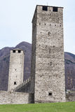 Castelgrande castle at Bellinzona. On the Swiss alps, Unesco world heritage Stock Images