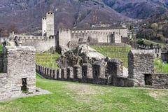 Castelgrande castle at Bellinzona. On the Swiss alps, Unesco world heritage Stock Photo