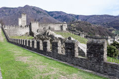Castelgrande castle at Bellinzona on the Swiss alps. Unesco world heritage Stock Photo