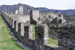 Castelgrande castle at Bellinzona on the Swiss alps. Unesco world heritage Royalty Free Stock Image