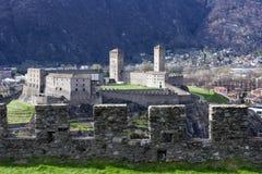 Castelgrande castle at Bellinzona on the Swiss alps. Unesco world heritage Royalty Free Stock Photo
