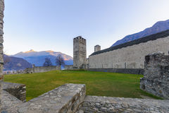 Castelgrande castle, in Bellinzona Stock Photography