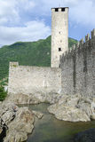 Castelgrande castle at Bellinzona on Switzerland. Castelgrande castle at Bellinzona on the Swiss alps Royalty Free Stock Photo