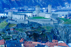 Castelgrande castle, in Bellinzona. View of the Castelgrande castle, in Bellinzona, Ticino, Switzerland Royalty Free Stock Images