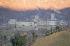 Castelgrande castle, in Bellinzona. View of the Castelgrande castle, in Bellinzona, Ticino, Switzerland Stock Photos