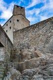 Castelgrande Castle in the old town of Bellinzona. In Switzerland Stock Photo
