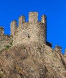 Castelgrande fortress in Bellinzona, Switzerland. Part of medieval Castelgrande fortress in Bellinzona, Switzerland. The fortress is a UNESCO World Heritage Site Royalty Free Stock Photography