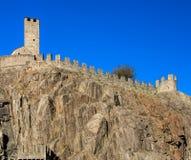 Castelgrande fortress in Bellinzona, Switzerland. Part of medieval fortress Castelgrande in Bellinzona, Switzerland. The fortress is a UNESCO World Heritage Site Stock Image