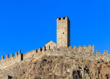 Castelgrande fortress in Bellinzona, Switzerland. Part of Castelgrande fortress in Bellinzona, Switzerland. The fortress is a UNESCO World Heritage Site and also Royalty Free Stock Images
