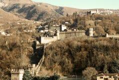 Castelgrandekasteel in Bellinzona, Zwitserland Royalty-vrije Stock Foto