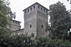 Castelguelfo Parma, Italia: castello Fotografia Stock Libera da Diritti