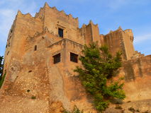 Castell, Altafulla (Spain ). View of the castle of Altafulla, Catalonia, Spain Royalty Free Stock Images