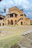 Castell'Arquato. Old medieval building in Castel Arquato, Piacenza, Italy royalty free stock photo