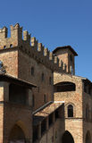 Castell'Arquato. (Pc),Emilia Romagna,Italy, Palace of Podestà, XIII° century with modification to the XV° century Stock Image