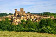Castell Arquato. Ancient Castell Arquato in Italy stock image