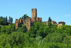 Castell Arquato. Castle in Italy stock photography