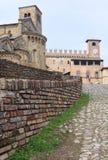 Castell'Arquato, Collegiata e Palazzo del Podesta images stock