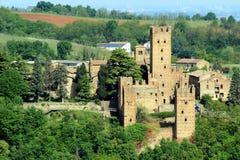 Castell'Arquato, een middeleeuws dorp in noordelijk Italië Royalty-vrije Stock Foto