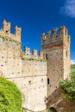 Castell Arquato in Italy. Architecture history emilia romagna tower castle travel landmark europe tourism building landscape fort fortress rocca viscontea royalty free stock photo