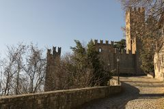 Castell`Arquato, medieval town. Castell`Arquato, a medieval and artistic village at Plasencia hills, Italy royalty free stock photography