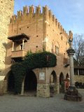 Castell`Arquato, medieval town. Castell`Arquato, an amazing medieval and artistic village close to Piacenza city, Italy royalty free stock photos