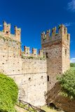 Castell Arquato in north Italy stock images