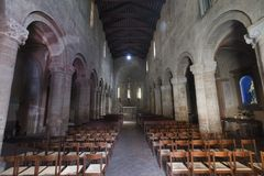 Castell ` Arquato Piacenza, Ιταλία, εσωτερικό εκκλησιών της Σάντα Μαρία Στοκ Εικόνα