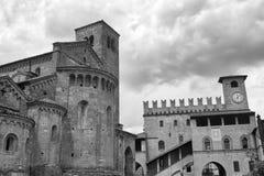 Castell ` Arquato Piacenza, Ιταλία, ιστορική πόλη Στοκ Εικόνα