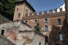 Castell ` Arquato Piacenza, Ιταλία, ιστορική πόλη Στοκ εικόνες με δικαίωμα ελεύθερης χρήσης