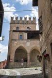 Castell ` Arquato Piacenza, Ιταλία, ιστορική πόλη Στοκ εικόνα με δικαίωμα ελεύθερης χρήσης