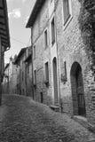 Castell ` Arquato Piacenza, Ιταλία, ιστορική πόλη Στοκ Φωτογραφία
