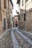 Castell ` Arquato Piacenza, Ιταλία, ιστορική πόλη Στοκ Εικόνες