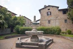 Castell ` Arquato Piacenza Italië historisch centrum royalty-vrije stock afbeeldingen