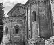 Castell ` Arquato Piacenza, Italien, Santa Maria kyrka, absid Royaltyfria Bilder