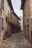 Castell`Arquato Piacenza Italy historic center.  stock image
