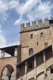 Castell`Arquato Piacenza, Italy, historic city. Castell`Arquato Piacenza, Emilia Romagna, Italy, view of the historic palace known as Palazzo del Podest royalty free stock images
